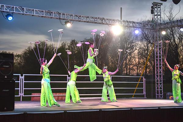 Lantern Light Festival acrobats