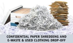 shredding ewaste clothing