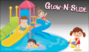 glow slide swim