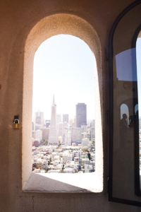 looking at san francisco from coit tower