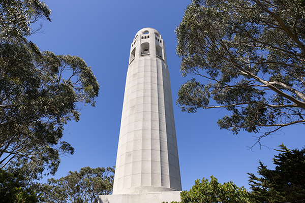 outside coit tower