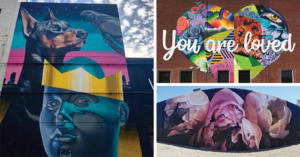 murals and street art at city center bishop ranch