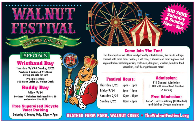 Walnut Festival 2021 ad in Your Town Monthly